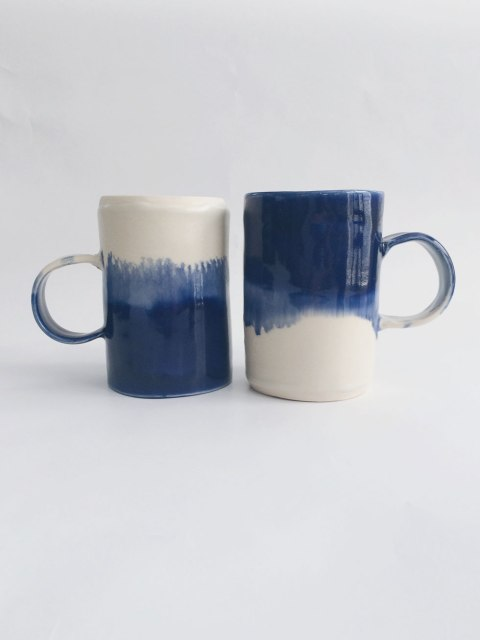 Pair of Watercolor Mugs
